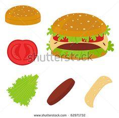 hamburger ingredient paper - Google Search