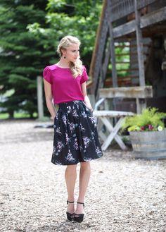 Magenta Top (Pre-order) – ModestPop.com - modest fashion, modest skirt, modest top, knee length skirt, work apparel.