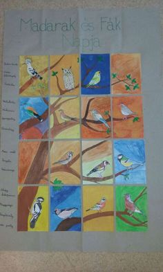 Madarak és fák napja Diy And Crafts, Arts And Crafts, Spring Theme, Kindergarten, Projects To Try, Birds, Teaching, Quilts, Paper
