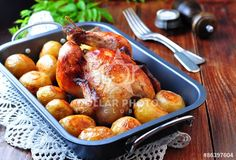 https://www.dollarphotoclub.com/stock-photo/Grilled chicken with  baked potato on a wooden table /86397604 Dollar Photo Club millions of stock images for $1 each