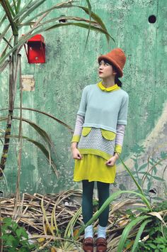 Pastel colour jumper with decorative flaps // Hand by YuSquare