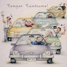"""Cards """"Temper Tantrums """" - Berni Parker Designs ღ✟ Birthday Cards For Men, Man Birthday, Birthday Wishes, Driving Miss Daisy, Greeting Card Companies, Friend Crafts, Image Digital, Picture Postcards, Cool Cards"""