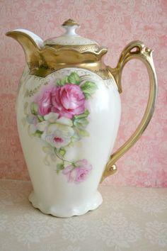 Bavaria Porcelain (Germany) — Chocolate Pot  (570×855)