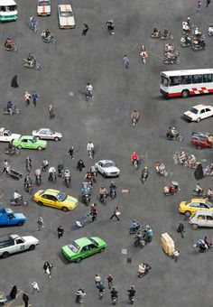 Graphic Overhead Photos of People in Public Places From NYC to Tehran | Feature Shoot