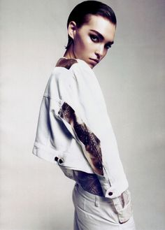 brows cheeks Arizona Muse by Camilla Akrans for Vogue China February 2011