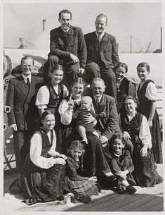 """The Trapp family singers that inspired the musical and movie, """"The Sound of Music."""""""