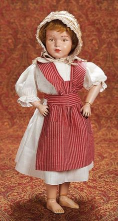 Home At Last - Antique Doll and Dollhouses: 267 American Wooden Character Girl by Schoenhut