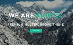Kinetic - One Page Parallax Theme  #bootstrap #bootstrap #design #theme