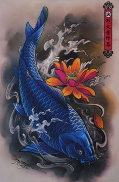 koi tattoos   shop online tattoo design posters tattoo design posters
