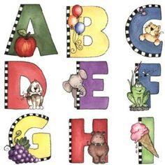 Abecedario infantil imagenes para imprimir-Imagenes y dibujos para imprimir