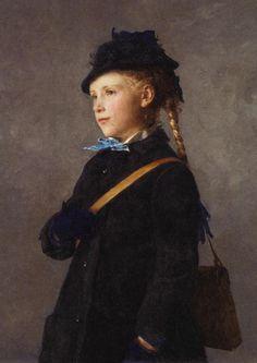 """Albert Anker, """"Marie Anker"""", 1881"""