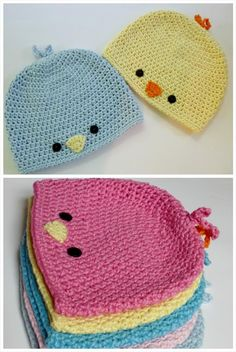Crochet Baby Bird Hat - 50 Free Adorable Baby Crochet Hat Patterns #crochethats