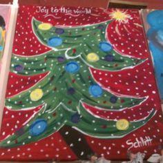 Christmas tree painting inspiration