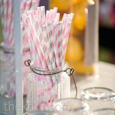 pink and gray straws  wedding ideas and inspiration  #wedding #pinkandgray