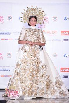 Bb Pilipinas 2017 Top 10 national costumes revealed - Missosology Regional, Filipiniana Dress, Miss Philippines, Maria Clara, Fantasy Dress, Formal Dresses, Wedding Dresses, Pageant, Fashion Show