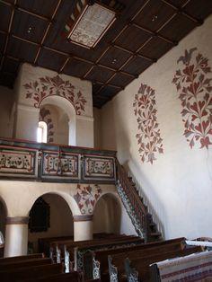 Church interior Csaroda, Hungary