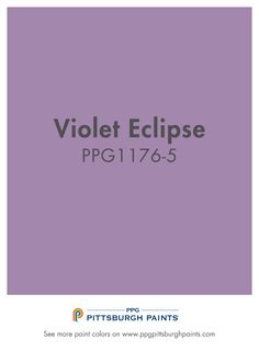 VIOLET ECLIPSE from PPG Pittsburgh Paints. The use of this color facilitates meditation, balances thought, expresses mystery, invites surprise and promotes elegance. Purple Paint Colors, Ppg Paint, Interior Paint, Growing Up, Meditation, Invitations, Thoughts, Vegan Cheesecake, Painting