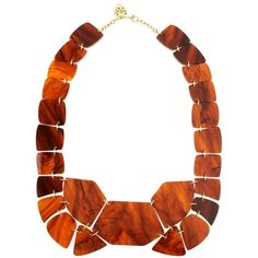 Tortoise Shell Link Necklace ($195) ❤ liked on Polyvore