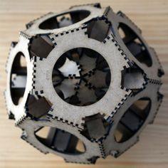 Lasercut dodecahedron