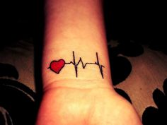 Heartbeat Tattoo | Tattoos | Pinterest  For Men