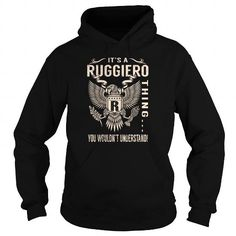 I Love Its a RUGGIERO Thing You Wouldnt Understand - Last Name, Surname T-Shirt (Eagle) Shirts & Tees