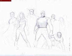 Avengers Siege layout Jam by Olivier Coipel Comic Art