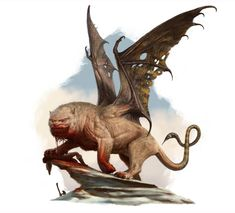 Manticore concept by RussellMarks on DeviantArt Greek Monsters, Dnd Monsters, Flying Monsters, Fantasy Monster, Monster Art, Weird Creatures, Mythical Creatures, Types Of Fiction, Manticore