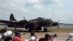"Sally B ""Memphis Belle"" B 17 Bomber  Duxford 2013 take off."