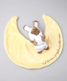 Cow Jumped Over the Moon Velour Plush Toy Blanket