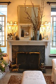gorgeous mantel