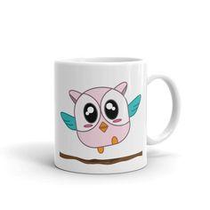 Hoo Hoo the Baby Owl Mug, Mug, matching family outfits - Winky Shiba Co. Owl Mug, Baby Owls, Matching Family Outfits, Shiba, Mugs, Cups, Tumbler, Mug, Baby Owl