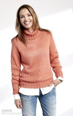 The Persimmon Ribbed Turtleneck is a beautiful free knitting pattern perfect for colder temperatures. The ribbing of this knit sweater and the edging detail really make this pattern something special.