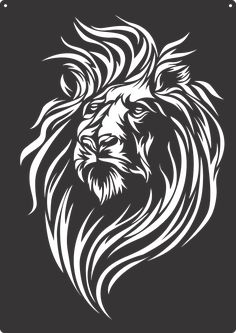 On Sale This Week Only!! Free Shipping!! Doodle Drawing, Stencil Templates, Stencils, Stencil Patterns, Silhouette Art, Lion Stencil, Animal Stencil, Metal Art, Lion Vector