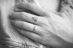 Tattoo Ring Black and white