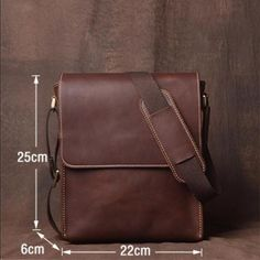 Leather Crossbody Bag, Leather Messenger Bag, School Bag,Handmade Bag Features: Design: Genuine Leather Messenger BagIn Stock: 4 5 days For MakingAdd Custom Monogram Logo: AcceptColor: Brown Dark Brown Dark Coffee BlackMaterial: Quality Canvas a Leather Bag Tutorial, Leather Bag Pattern, Leather Bags Handmade, Handmade Bags, Leather Crossbody Bag, Leather Handbags, Diy Leather Messenger Bag, Crossbody Bags, Clutch Bags