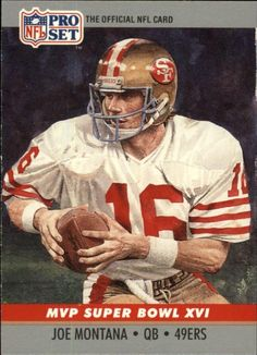 1990 Pro Set Joe Montana Football Card for sale online Montana Football, Football Art, Football Rules, Joe Montana, Super Bowl, 49ers Players, Football Players, Official Nfl Football, Nfl 49ers