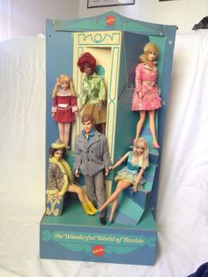 "RARE 1970 Mattel ""The Wonderful World of Barbie"" Toy Store Counter Top Display 