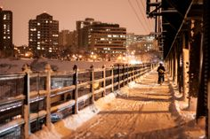 Winter - High Level Bridge, Edmonton AB Canada