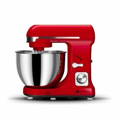 Ventray Stand Mixer 6 Speed Tilt-Head Electric Kitchen Food Mixer with Stainless Steel Bowl, Dough Hook, Pouring Shield, Flat Beater-Lava Red Small Kitchen Appliances, Kitchen Aid Mixer, Best Stand Mixer, Best Electric Pressure Cooker, Best Electric Shaver, Stainless Steel Bowl, Best Blenders, Leather Loveseat, Kitchen Pendants