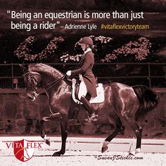 """Being an equestrian is more than just being a rider"" - Adrienne Lyle #GDF2014 #VitaFlexVictoryTeam #dressage"