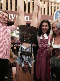 Handstands at Oktoberfest in Munich, Germany!