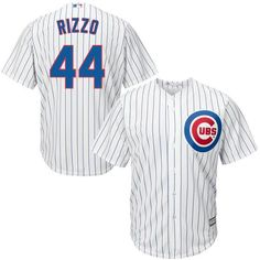 46da3bda6ad Men s Chicago Cubs Anthony Rizzo Majestic White Home Cool Base Player Jersey