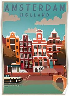 A SLICE IN TIME Amsterdam Dutch Holland Netherlands Europe Travel Art Wall Decor Collectible Poster Advertisement Print. Poster Measures 10 x inches Retro Poster, A4 Poster, Kunst Poster, Vintage Travel Posters, Poster Prints, Art Prints, Poster Sizes, Poster City, Poster Wall
