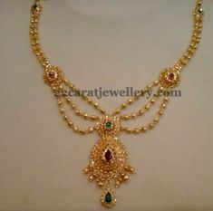 Gold Necklace Simple, Gold Jewelry Simple, Short Necklace, Ruby Necklace, Gold Necklaces, Gold Earrings Designs, Gold Jewellery Design, Necklace Designs, Bridal Jewelry