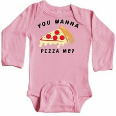 Inktastic You Wanna Pizza Me Infant Creeper Food Humor Pun Red Funny Jokes