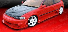 92-95 93 94 Honda Civic HB Wave Style Side Skirts by ViS