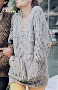 Instant Download PDF Knitting Pattern Ladies or Mens SLOPPY | Etsy Free Chunky Knitting Patterns, Jumper Knitting Pattern, Jumper Patterns, Free Knitting, Sock Knitting, Knitting Tutorials, Knitting Machine, Vintage Knitting, Vintage Crochet
