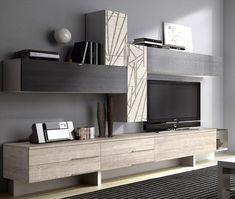 Tv Cabinet Design, Tv Wall Design, Design Case, Home Room Design, House Design, Tv Wall Cabinets, Living Room Tv Unit Designs, Muebles Living, Tv Wall Decor