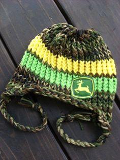 NewbornChild Knit/ Camo/Green/Yellow John Deere by pinkiebows, $14.00 FOR @Leslee Myers Nevius Myers Nevius Mattingly