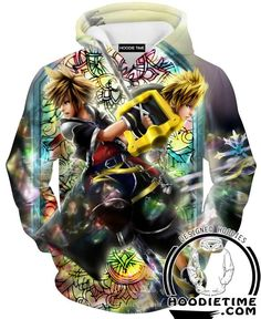 Kingdom Hearts Hoodies - Sora and Roxas Keyblade Hoodie - 360 Printed